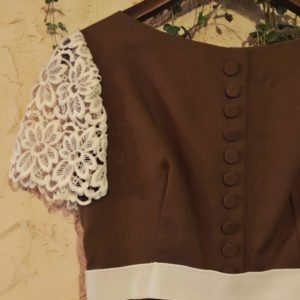 1960s-70s ヴィンテージドレス USA製 ILGWUタグ付き